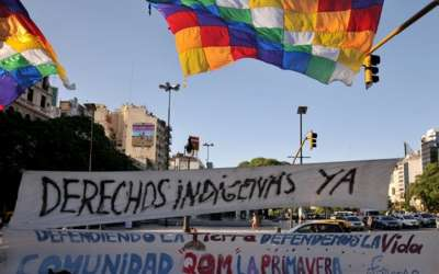 Corte de ruta en Formosa y acampe en Buenos Aires